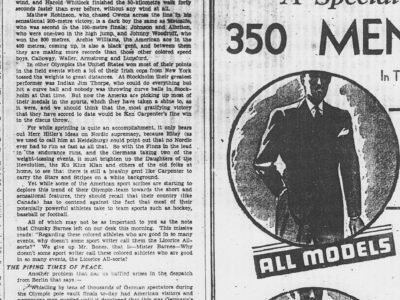 "From Berlin to Rio in 80 Years: The Olympics and Race in the Toronto Sports Media in 1936 – ""a dark boy"", ""Indian Jim Thorpe"", and ""the Licorice All-sorts"""