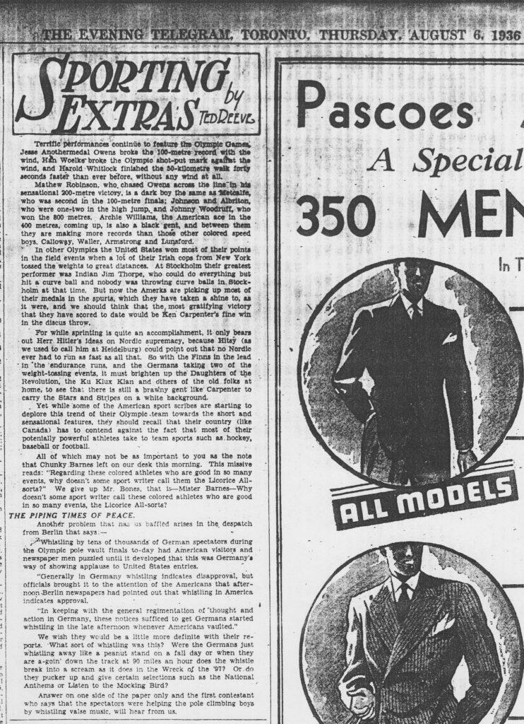 Eve Telegram Toronto Sporting Extras aug061936